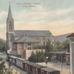 Haltestelle in Müllheim Verkehrsamt